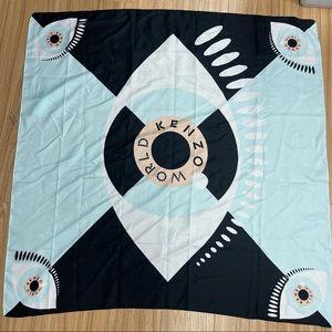 Kenzo World- Eye design square scarf